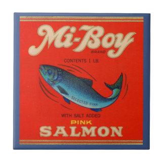 Azulejo De Cerámica los salmones del rosa del MI-Muchacho de los años