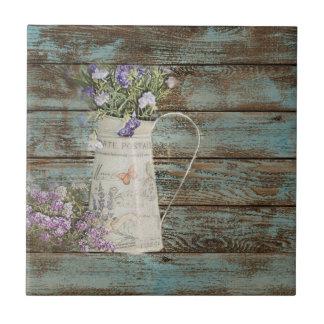 Azulejo De Cerámica madera azul del granero del país de la lechada de