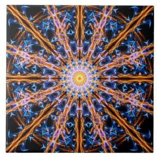 Azulejo De Cerámica Mandala de la estrella de la alquimia