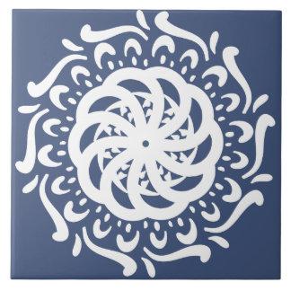Azulejo De Cerámica Mandala de la noche