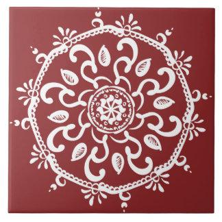 Azulejo De Cerámica Mandala del arándano