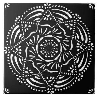 Azulejo De Cerámica Mandala del cuervo