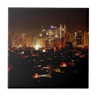 Azulejo De Cerámica Manila en la noche