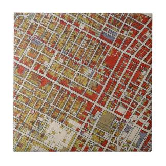 Azulejo De Cerámica Mapa de WPA de Los Ángeles central
