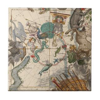Azulejo De Cerámica Mapa del vintage de South Pole