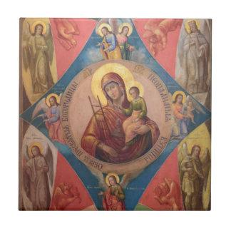 Azulejo De Cerámica Maria, Jesús, y ángeles