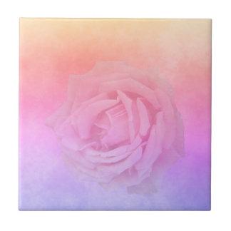 Azulejo De Cerámica Melocotón rosado y de oro ultravioleta con el rosa