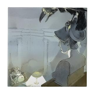Azulejo De Cerámica Mirado por el cuervo