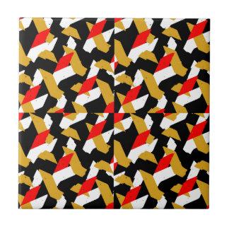 Azulejo De Cerámica Modelo abstracto colorido