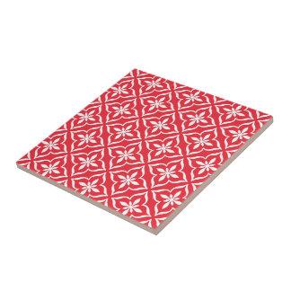 Azulejo De Cerámica Modelo árabe retro lindo rojo coralino elegante