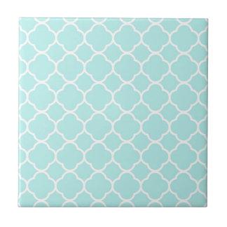 Azulejo De Cerámica Modelo clásico de Quatrefoil de las azules