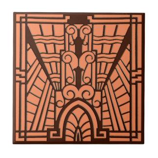 Azulejo De Cerámica Modelo, cobre y Brown arquitectónicos de Deco