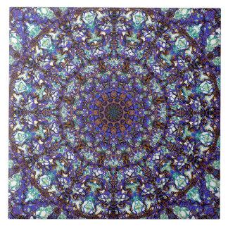 Azulejo De Cerámica Modelo coloreado romántico marroquí de la mandala