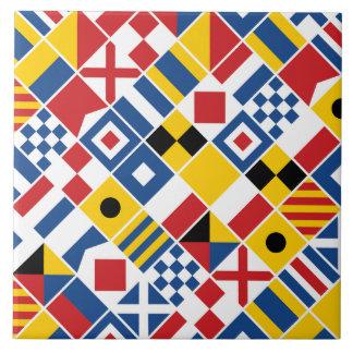 Azulejo De Cerámica Modelo de las banderas de señal náutica