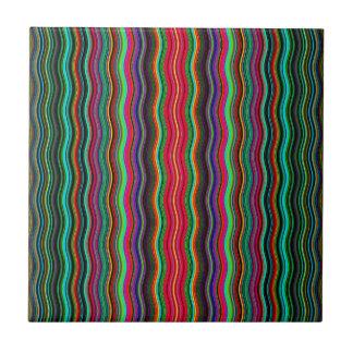 Azulejo De Cerámica Modelo ondulado colorido hermoso de la raya