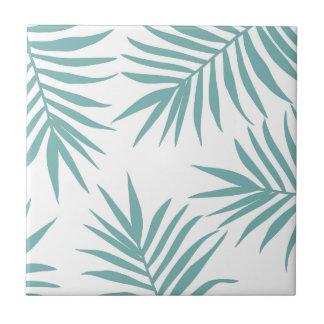 Azulejo De Cerámica Modelo tropical verde delicado de las hojas