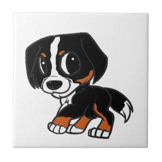 Azulejo De Cerámica moho del dibujo animado del perro de montaña