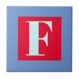 Azulejo De Cerámica Monograma brillante y elegante del alfabeto
