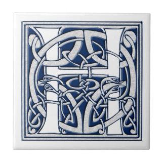 Azulejo De Cerámica Monograma céltico de H