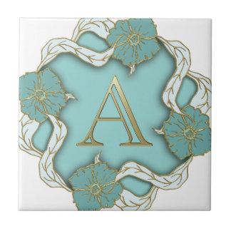 Azulejo De Cerámica monograma del alfabeto A