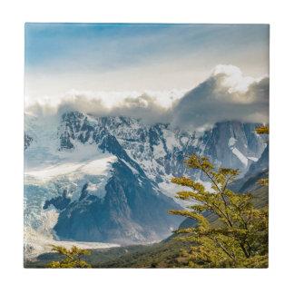 Azulejo De Cerámica Montañas Nevado los Andes, EL Chalten la Argentina