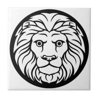 Azulejo De Cerámica Muestra del zodiaco del león de Leo