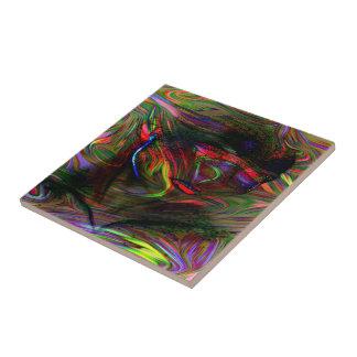 Azulejo De Cerámica Mujer abstracta dos