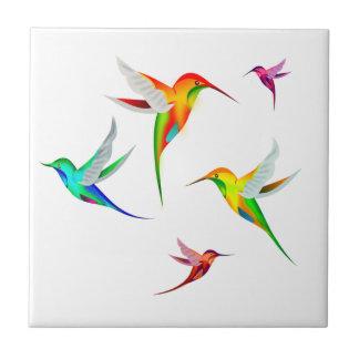 Azulejo De Cerámica Multitud de los colibríes linda - observación de