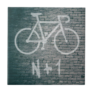 Azulejo De Cerámica N+1 pintada de la bici