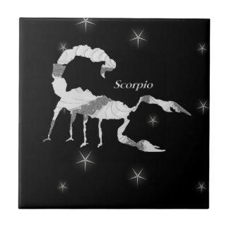 Azulejo De Cerámica Negro del diseño del escorpión