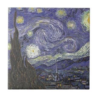 Azulejo De Cerámica Noche estrellada