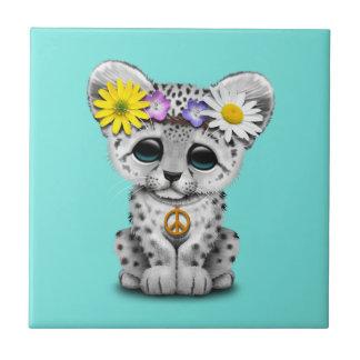 Azulejo De Cerámica Onza linda Cub del Hippie