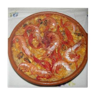 Azulejo De Cerámica Paella De mariscos
