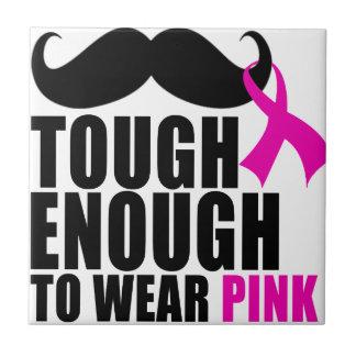 Azulejo De Cerámica Para llevar el rosa para la conciencia del cáncer