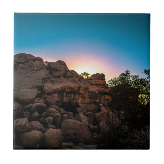 Azulejo De Cerámica Parque nacional de la yuca de la salida del sol
