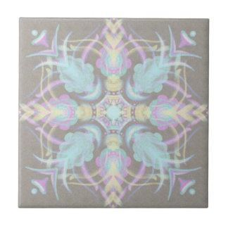 Azulejo De Cerámica Pastel en la mandala concreta de la calle