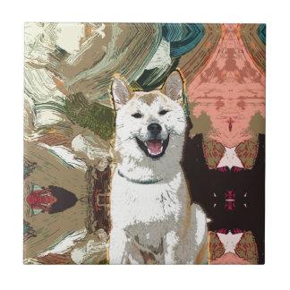 Azulejo De Cerámica Perro de Akita Inu