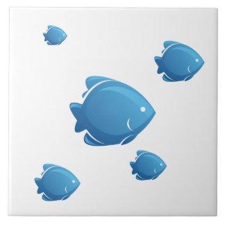 Azulejo De Cerámica Pescados azules