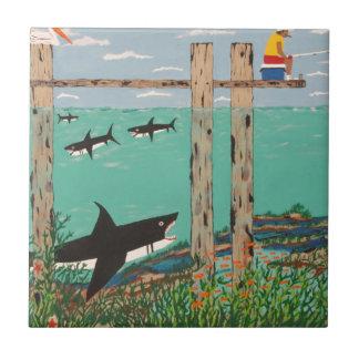 Azulejo De Cerámica Pescados que no muerden hoy