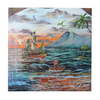 Azulejo De Cerámica Pintura de Bell del chapucero de la ensenada del