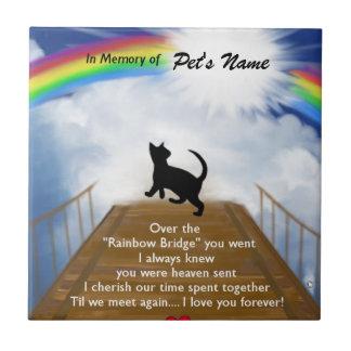 Azulejo De Cerámica Poema conmemorativo del puente del arco iris para