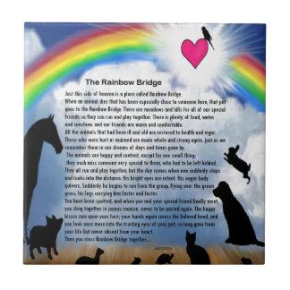 Azulejo De Cerámica Poema del puente del arco iris