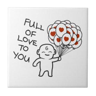 Azulejo De Cerámica Por completo del amor a usted