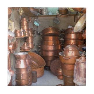 Azulejo De Cerámica Potes de cobre en el mercado