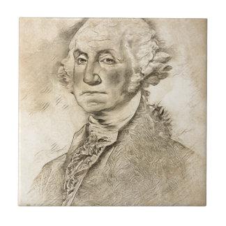 Azulejo De Cerámica Presidente George Washington
