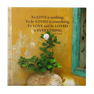 Azulejo De Cerámica proverbio del Griego de la cita del amor del