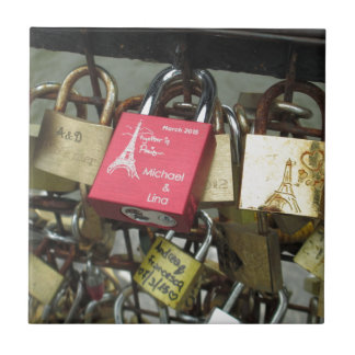 Azulejo De Cerámica Puente de los amantes - cerraduras del amor de