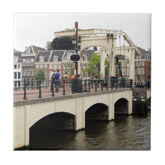 Azulejo De Cerámica Puente flaco, Amsterdam, Holanda