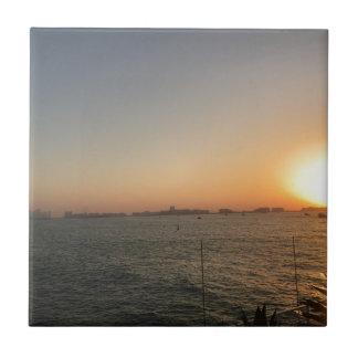 Azulejo De Cerámica puesta del sol
