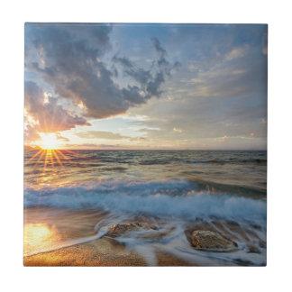 Azulejo De Cerámica Puesta del sol impresionante